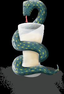Illustration Serpent bière La Belle Poule