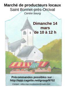 14 février – Marché de St Bonnet près Orcival